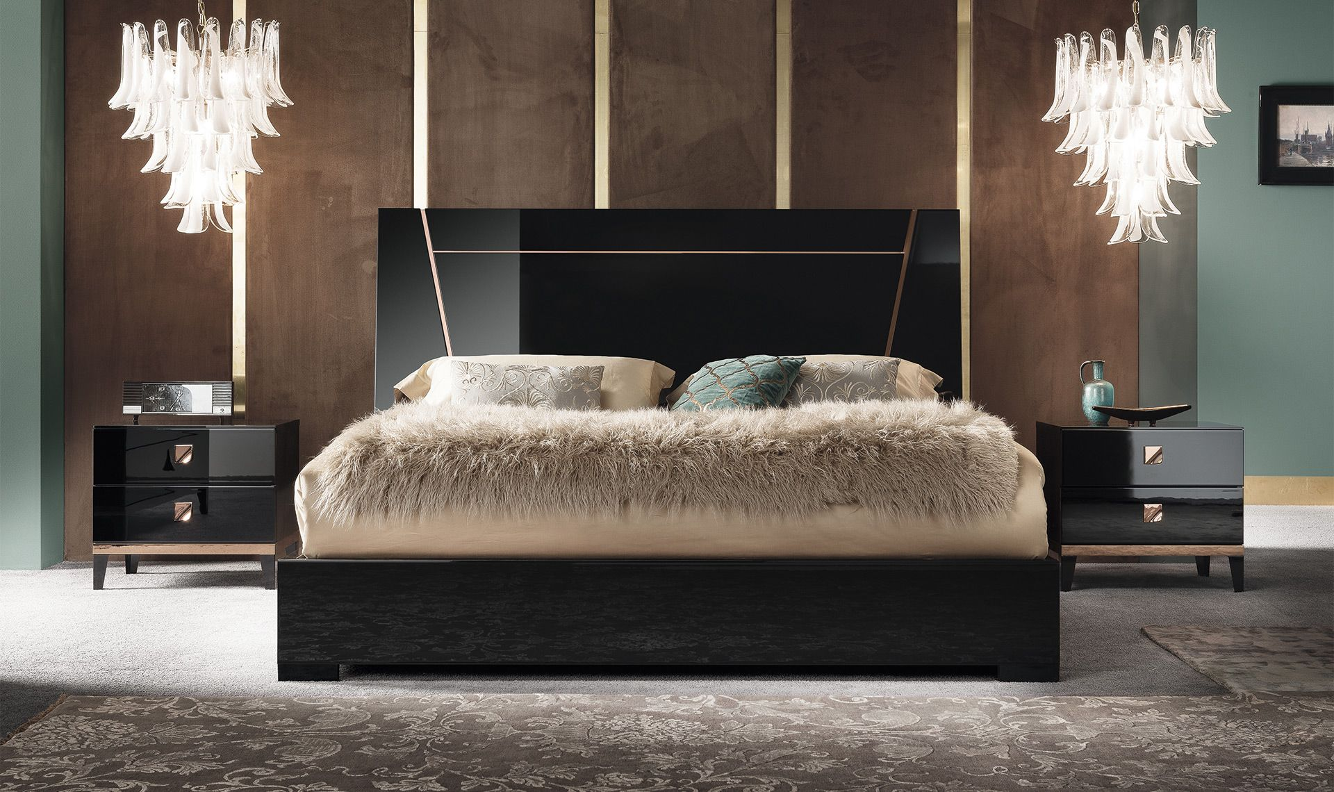 The Mont Noir Bedroom Collection is stylish and fashion-forward