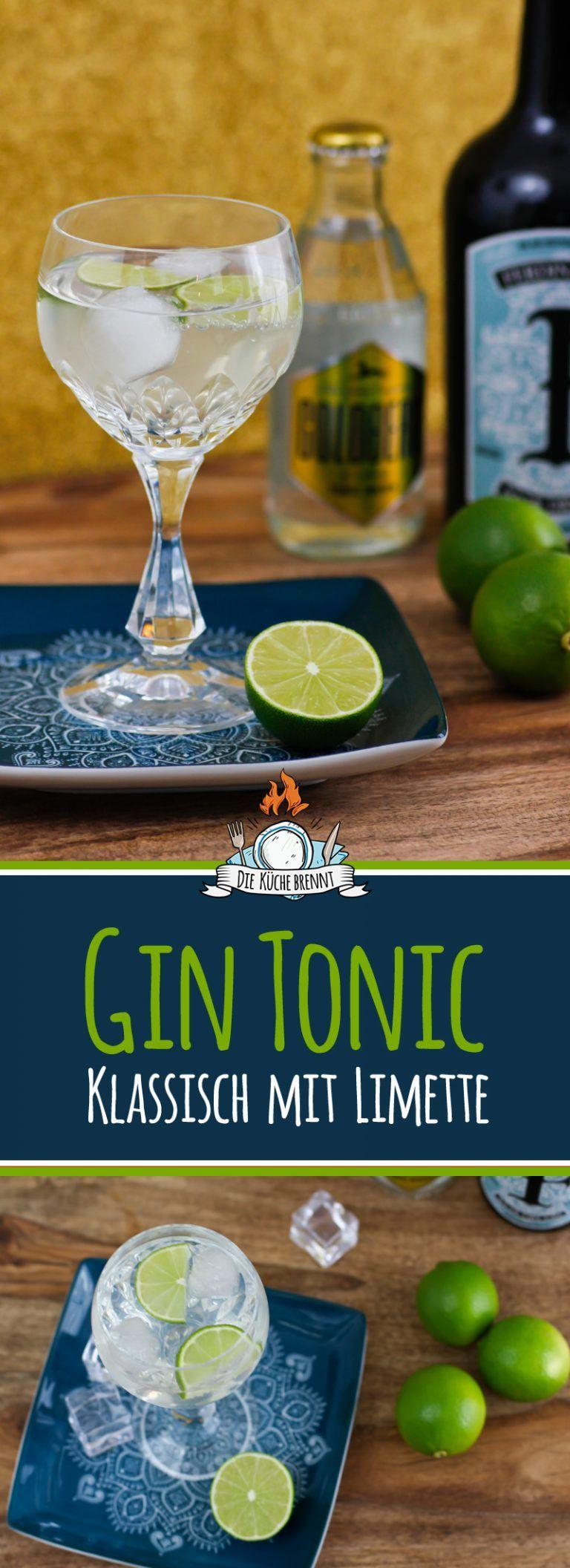 Klassiches Gin Tonic Rezept mit Limette / Zitrone oder Gurke