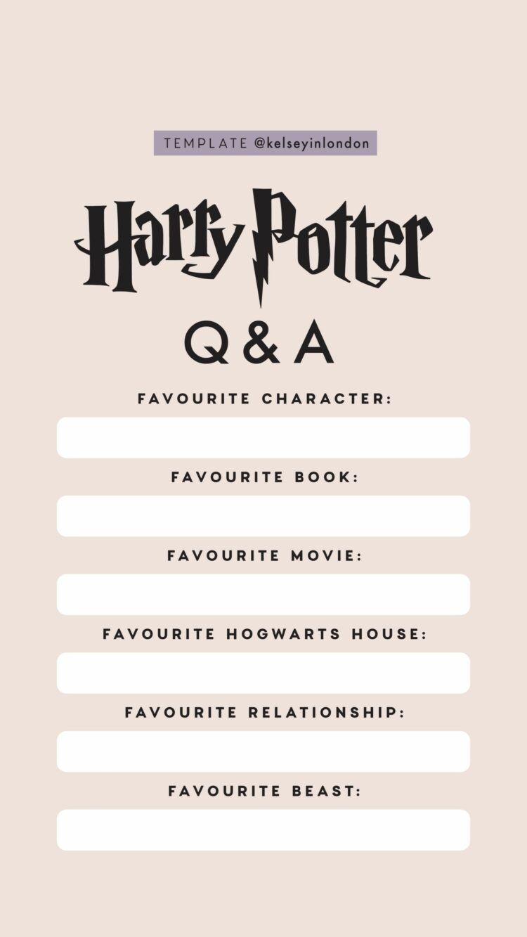 Harry Potter Instagram Story Templates Harry Potter Stories