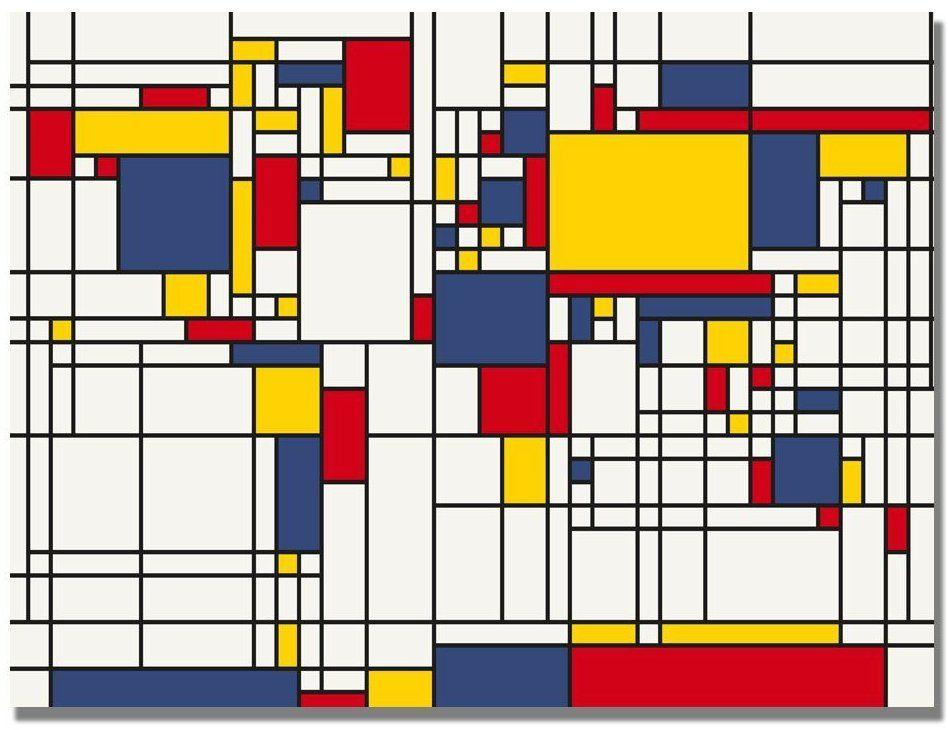 Mondrian world map Graphic Design Pinterest Mondrian, Manners - new world map canvas picture
