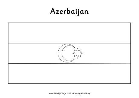 Azerbaijan Colouring Flag Goruntuler Ile