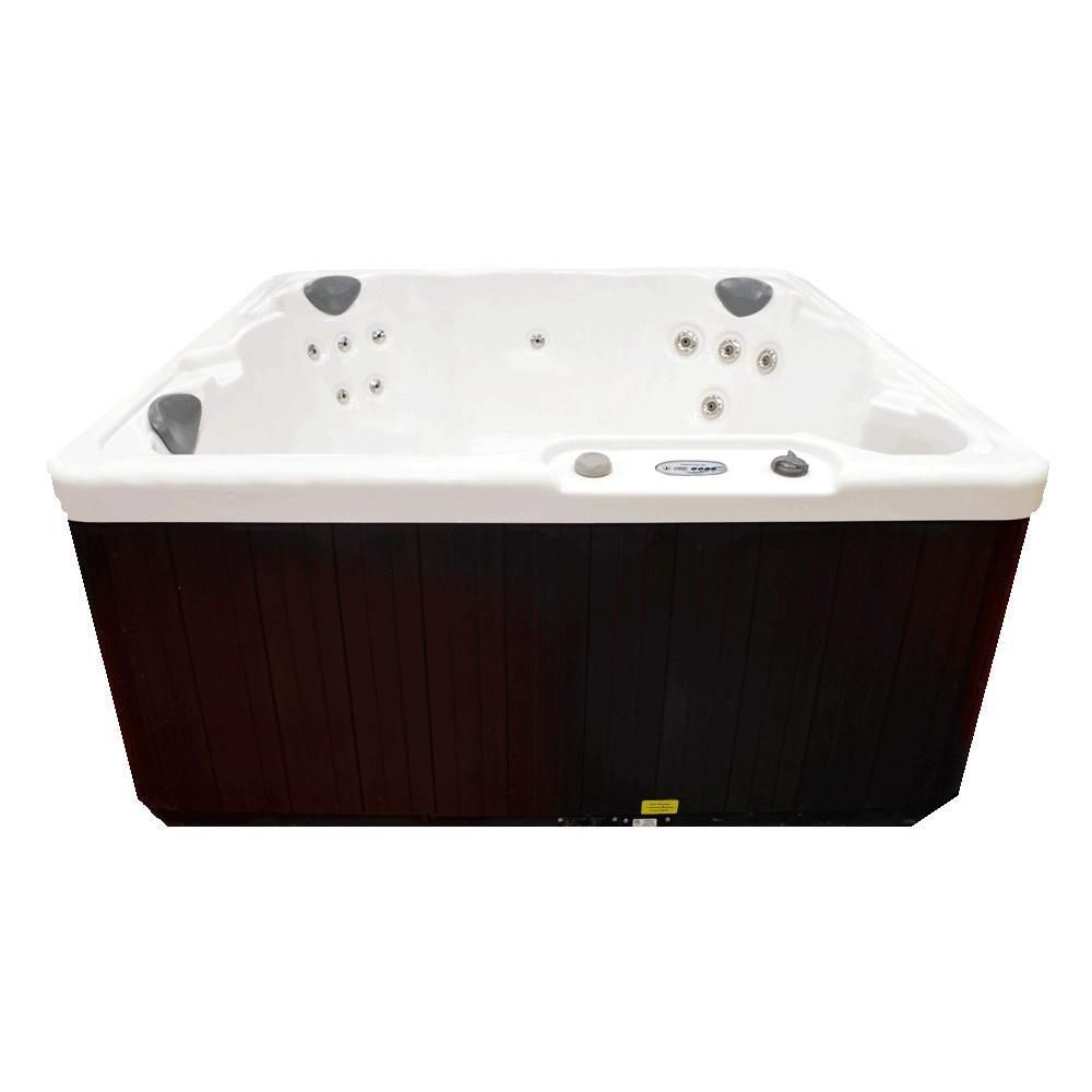 Home And Garden 5 Person 19 Jet Plug And Play Spa With Waterfall By