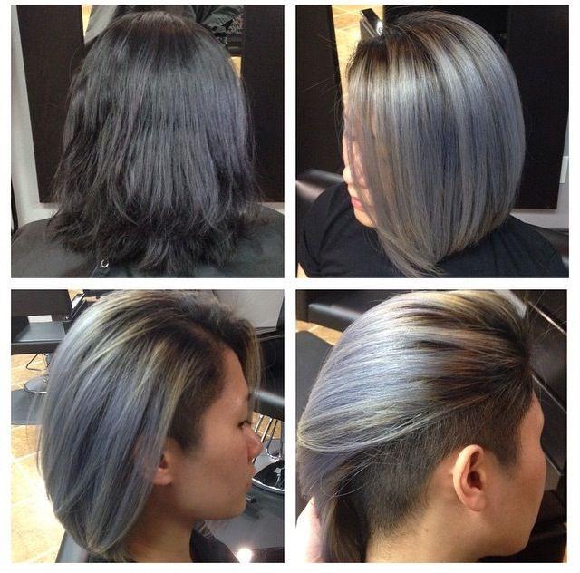 Grey Undercut Bob Undercut Hairstyles Hair Styles Bob Hairstyles