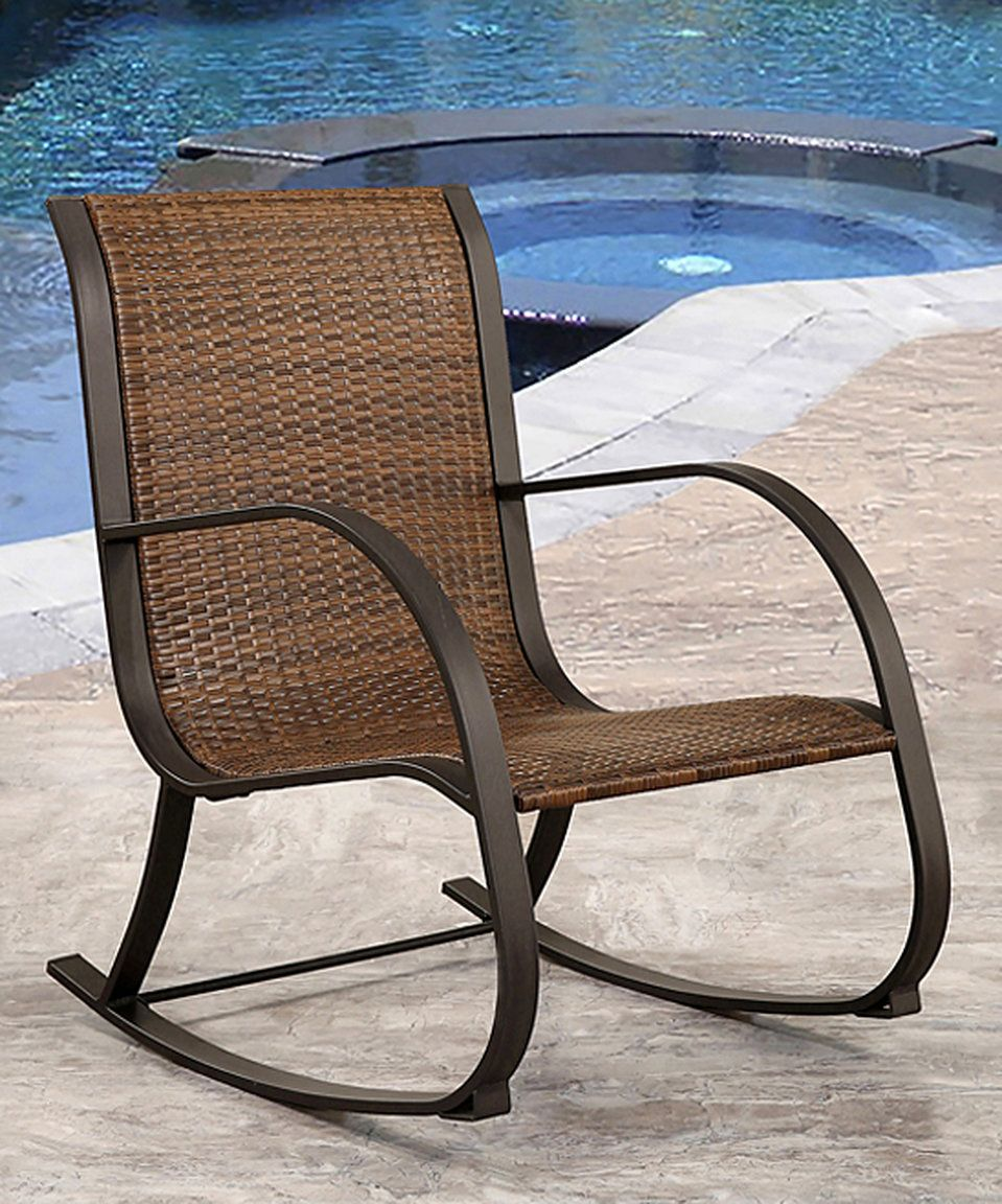 Awe Inspiring Take A Look At This Brown Blythe Outdoor Rocking Wicker Uwap Interior Chair Design Uwaporg