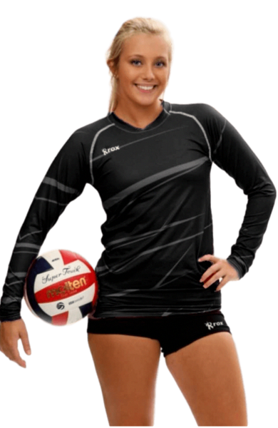 Monochrome Black Volleyball Jersey 1111 In 2020 Volleyball Jerseys Sports Wear Women Women Volleyball