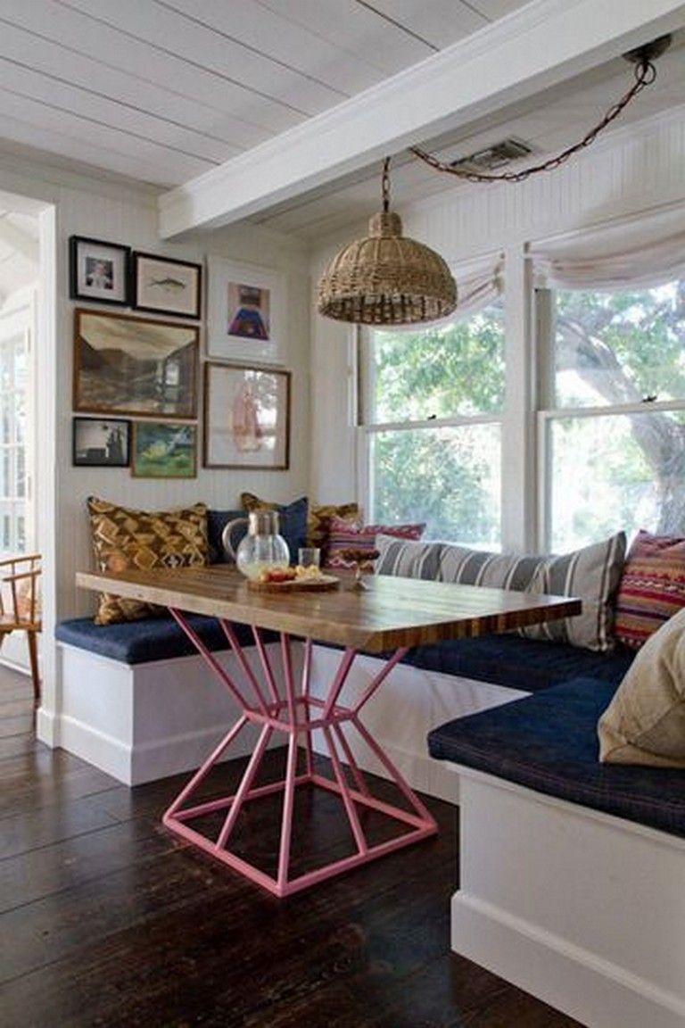 Dining Room Library Ideas: 48 Amazing Rustic Window Nook Ideas