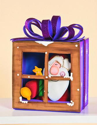 Esta navidad elabora ventanas con personajes Новый год Pinterest
