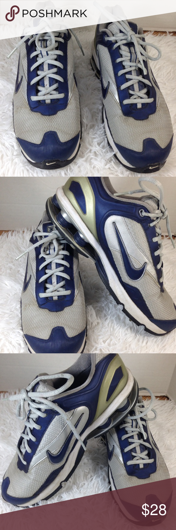 buy online 87ac0 610de Men s Nike Shox Golf Shoes •Good Condition •Worn A Few Times •Nike Shox Golf  For Stability And Extreme Comfort •T C (Traction   Contact) •Mesh And  Synthetic ...