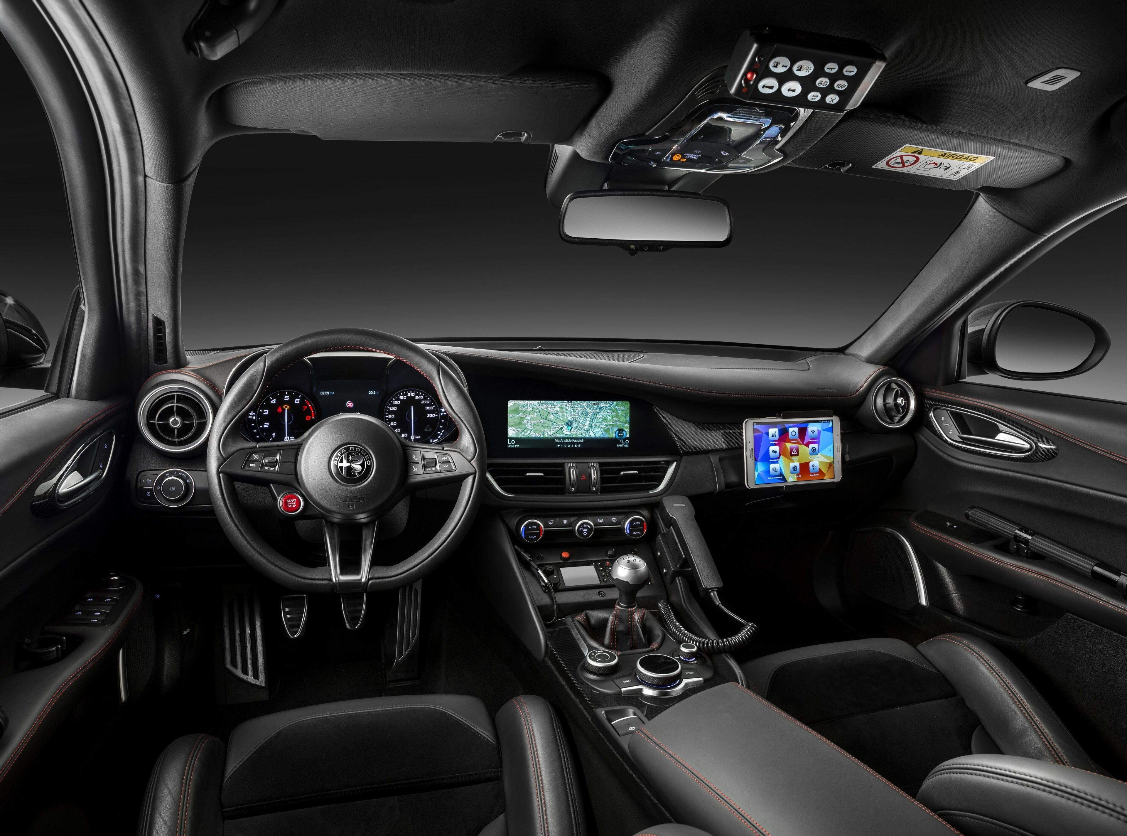 3840x2848 Alfa Romeo Giulia Quadrifoglio Carabinieri 4k Top
