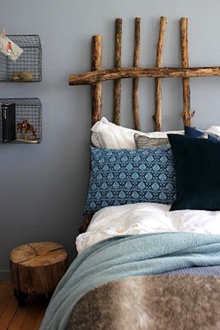 21 creative and inspiring twigs and branches diy projects to do 6 diy western headboard ideas or alternatives to headboards try hanging rugs skulls or a mix of rustic materials to decorate your bedroom solutioingenieria Gallery