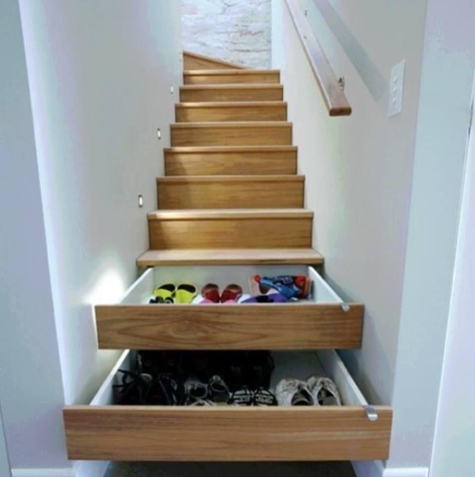 Sko under trappe