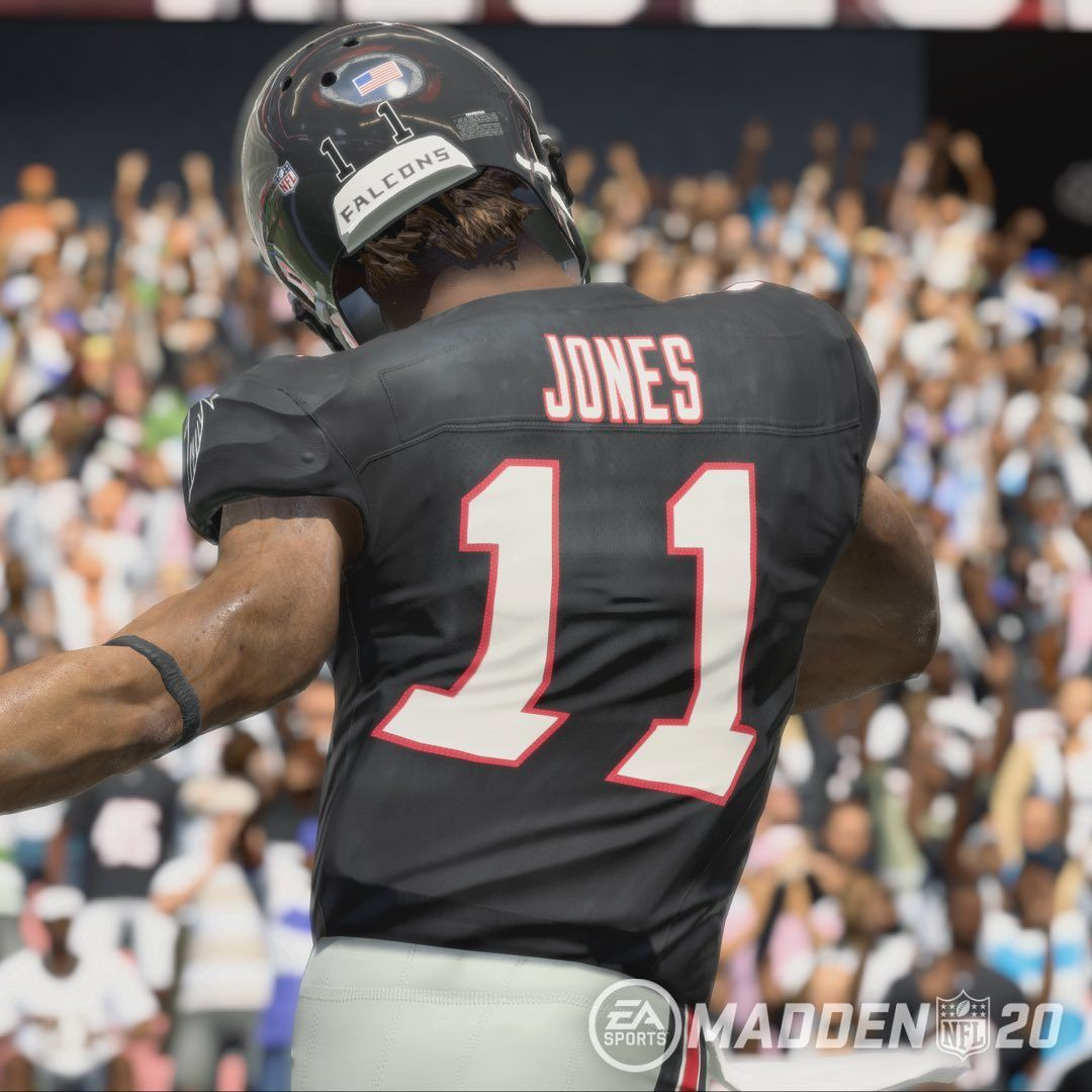 Atlanta Falcons Julio Jones Is Rated A 98 In Madden 20 One Point Too Low Atlanta Atlantafalcons Atlantafalco Julio Jones Atlanta Falcons Madden