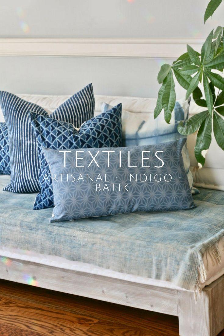I-home Interior Design Part - 35: Amazing Collection Of Hand-dyed Indigo Throw Pillows | Home Decor |  Pillowcases | Global Decor | How I Home | Indigo Bedroom | Interior Style |  Bohu2026
