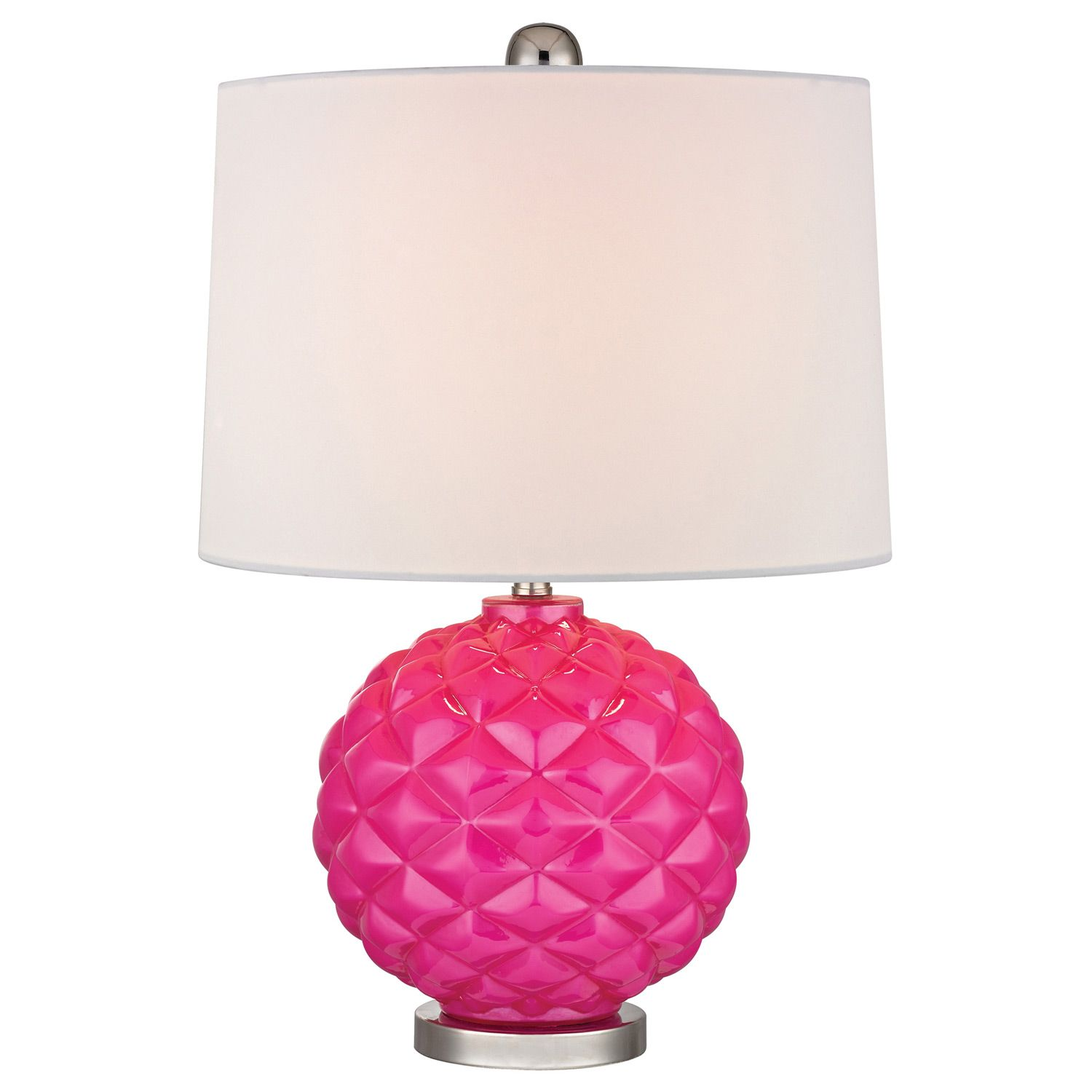 Hot pink textured glass table lamp apartment pinterest hot pink textured glass table lamp geotapseo Choice Image