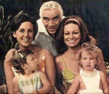 Lorne Greene and family