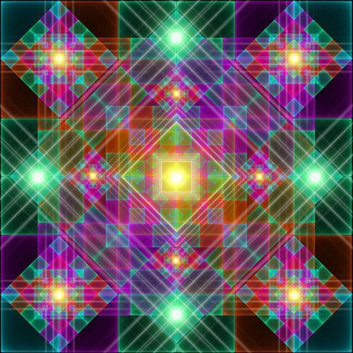 Détail d'une tuile qui & rsquo; s va être utilisé dans un article à venir !!  #psychedelic #glimmer #light #kaleidoscopic #holographic #tile #Reconnaissance des Patterns #digital #samuelfarrand