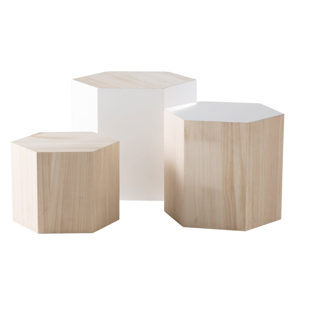 Tables Gigognes En Paulownia Deco En 2019 Tables