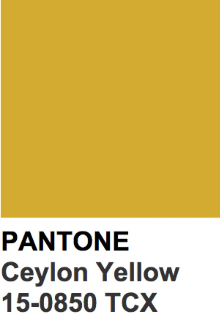 Ceylon Yellow Color Trends Fall 2018 In 2019 Yellow
