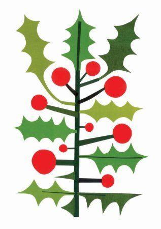 Christmas holly greeting card   by Urubbu Illustration