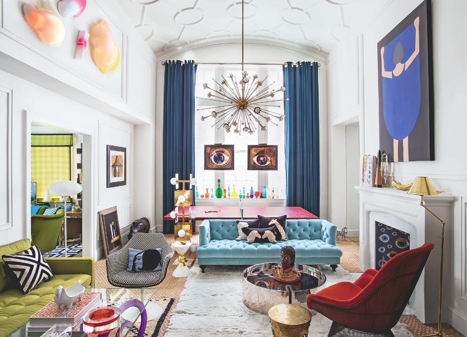 Modern Geometric Living Room Living Room Decorating Ideal Home Geometric Living Room Art Deco Living Room Living Room Decor