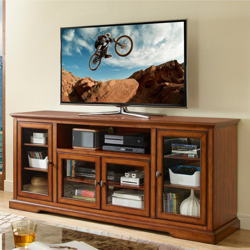 Walker Edison Style Wood TV Stand - HN70C32RB
