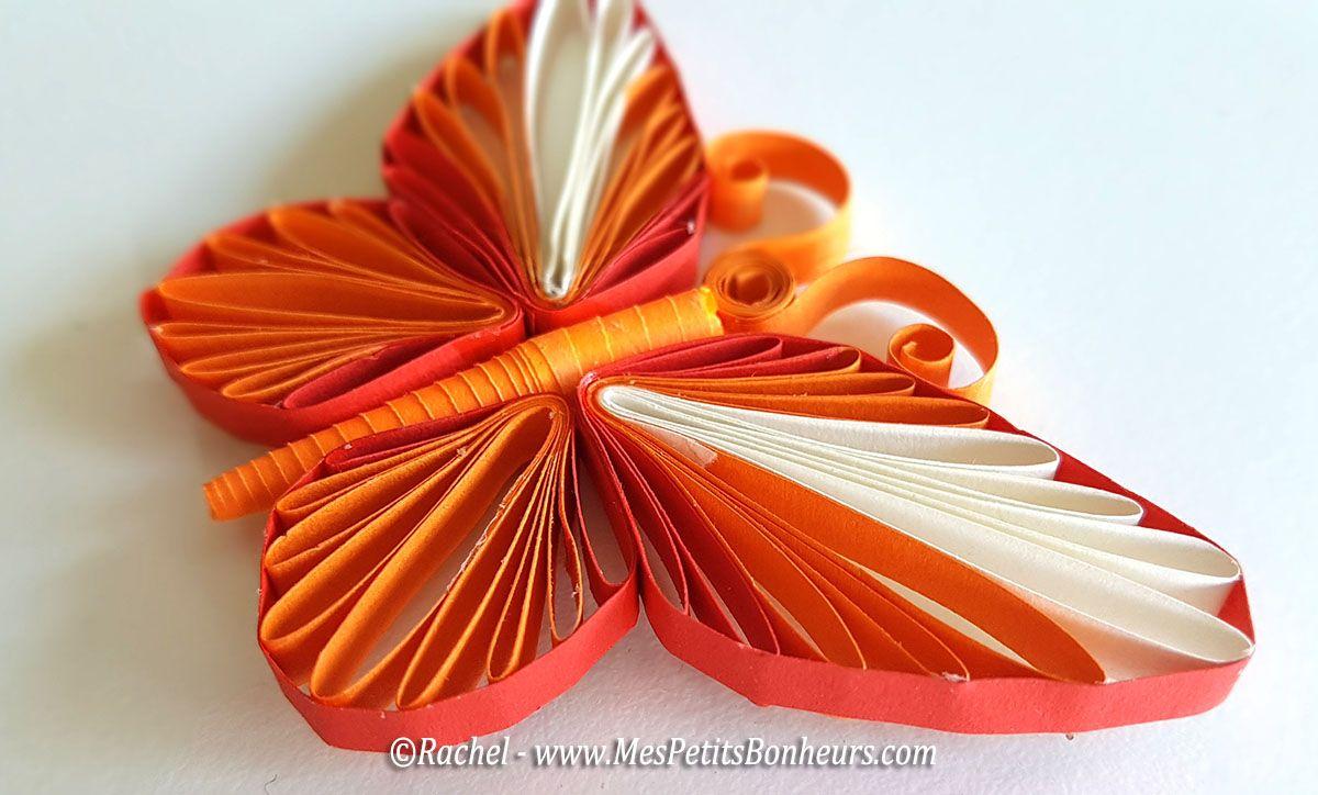 Mod le de papillon en quilling gabarit et tuto vid o quilling pinterest - Modele de papillon ...
