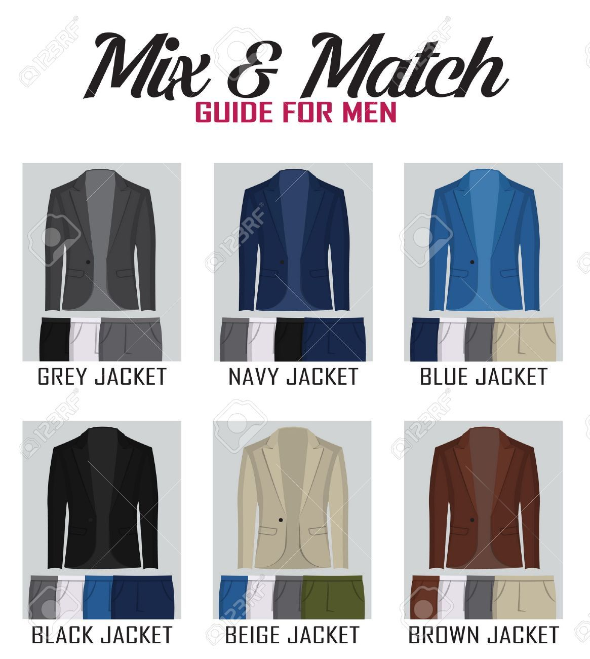 Grey what colour trousers jacket with Which color