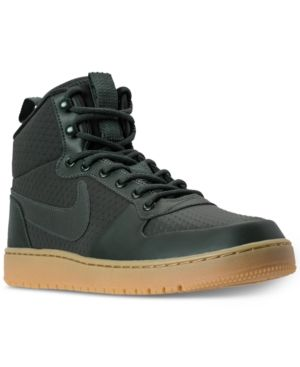 buy cheap 528b1 03aa1 Nike Men s Court Borough Mid Winter Outdoor Casual Sneakers from Finish Line  - Green 10.5