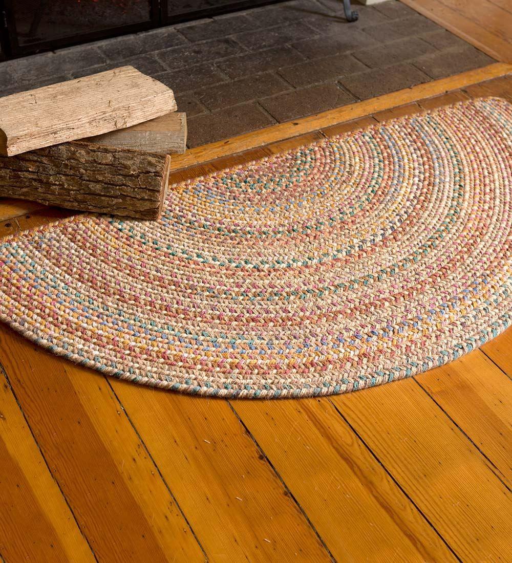 exceptional Half Oval Rug Part - 4: Blue Ridge Half Round Wool Braided Rug, 2u0027 x 4u0027 | Braided Rugs