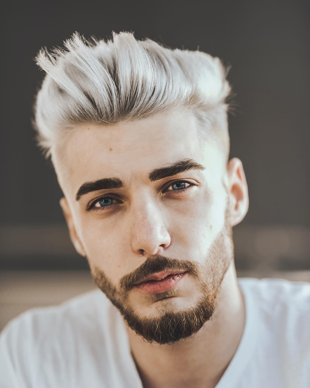 White Hairstyle For Men Gents Hair Style Beard And