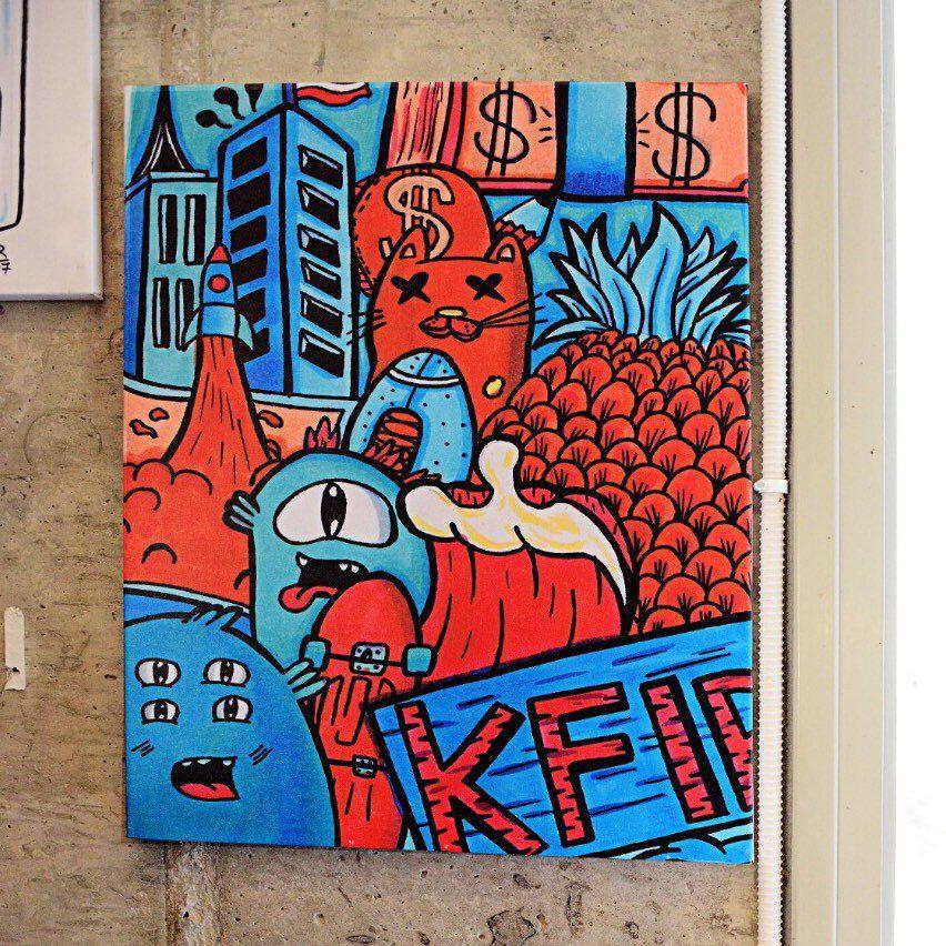 Large wall art colorful art urban wall art pop art