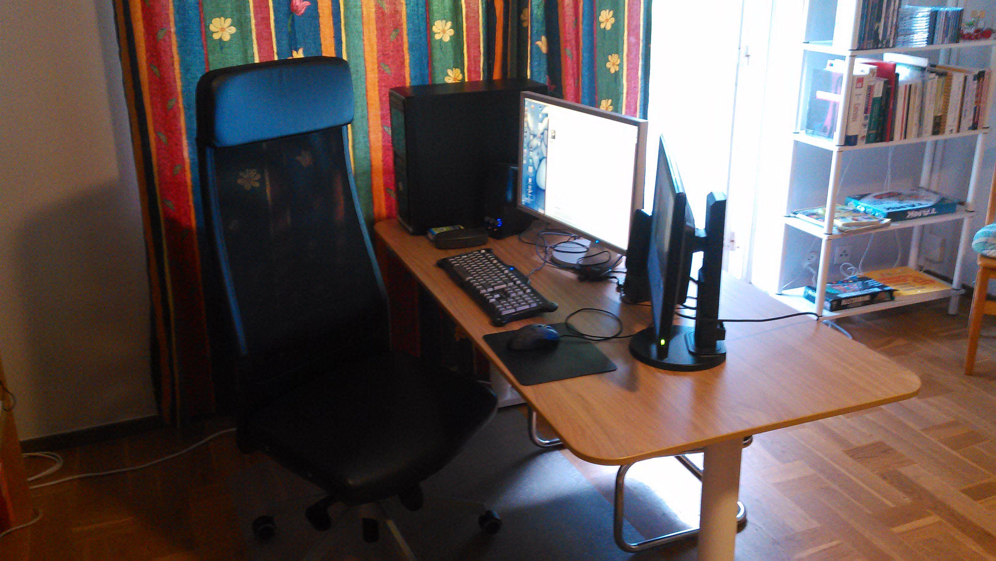New Ikea Markus Chair Bekant Desk With Oak Veneer And Electric