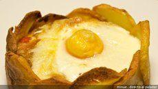 Huevos al plato sin plato. Receta