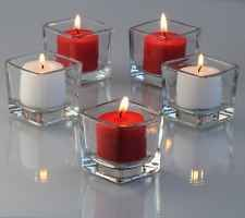 72 Clear Glass Square Votive Holders