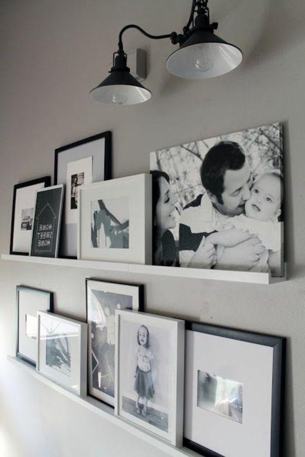 Toll Bilder In Schwarz Und Weiß Im Coolen Schlafzimmer