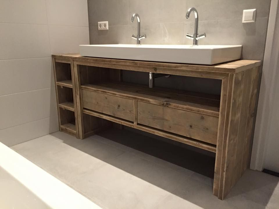 Meuble salle de bain de chez Pays Bois … | Mesas Rusticas | Meuble ...