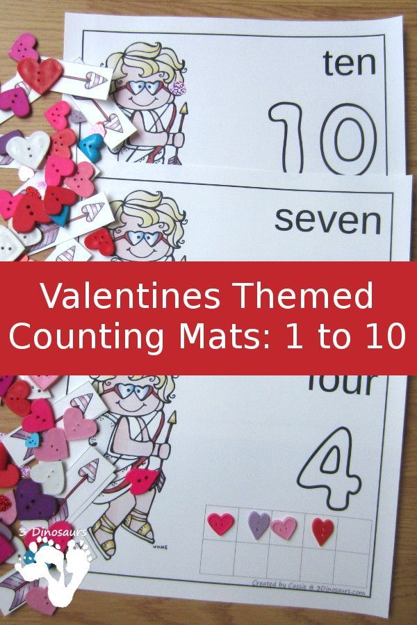 Hands-On Valentines Counting Mats: 1 to 10