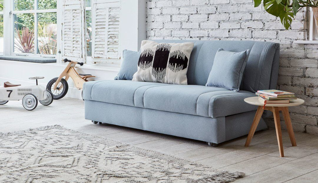 Launceston 2 Seater No Arms Sofa Bed Modern Sofa Bed Sofa Bed With Storage Leather Corner Sofa