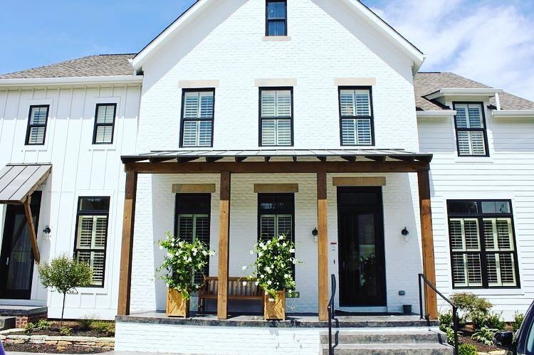 White House Black Windows Curb Appeal Exteriors