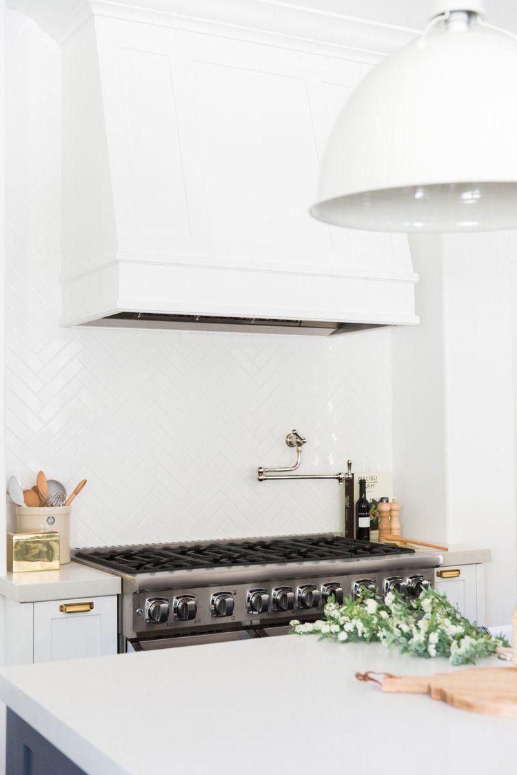 Calabasas Remodel: Kitchen + Laundry Room Reveal | Herringbone tile ...