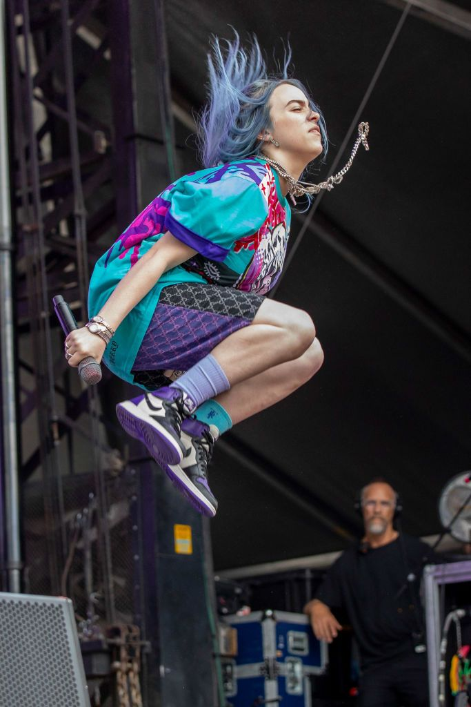 Billie Eilish performs during Day 2 of Music Midtown Festival at…