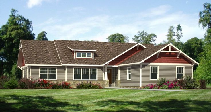 craftsman style ranch home exterior is one of the home design images that can be an - Ranch Home Exterior