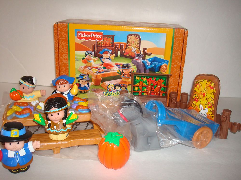 NEW Fisher Price Little People Thanksgiving Celebration Set ...