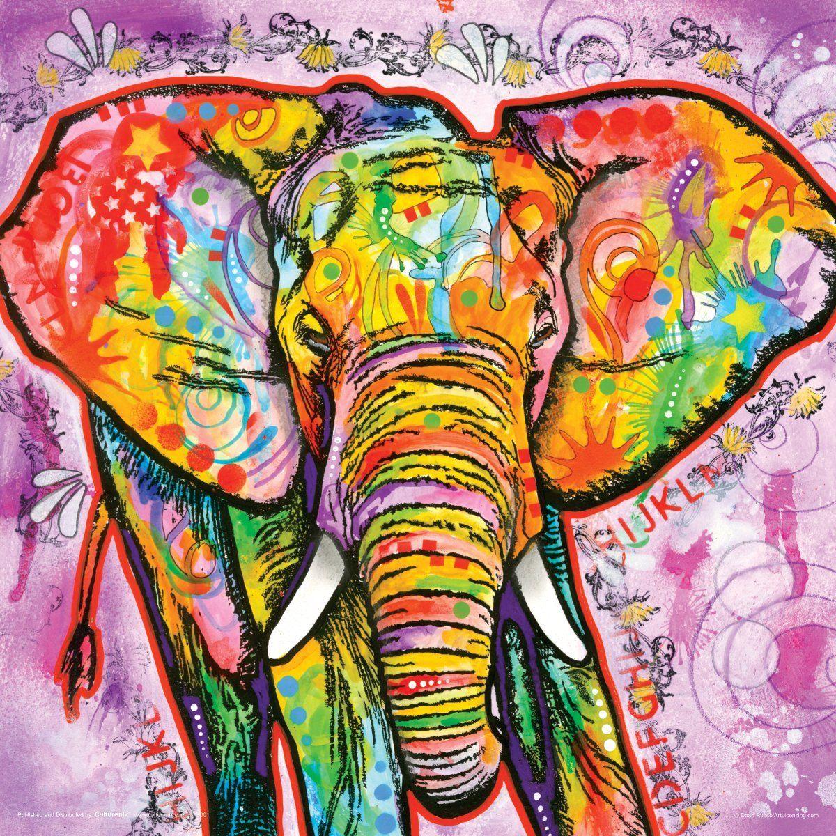 amazoncom dean russo elephant modern animal decorative art poster print - Decorative Art