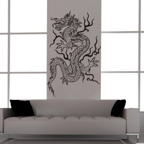 Asian Dragon Tattoo Style-Feng Shui-Vinyl Wall Art Decal for Home
