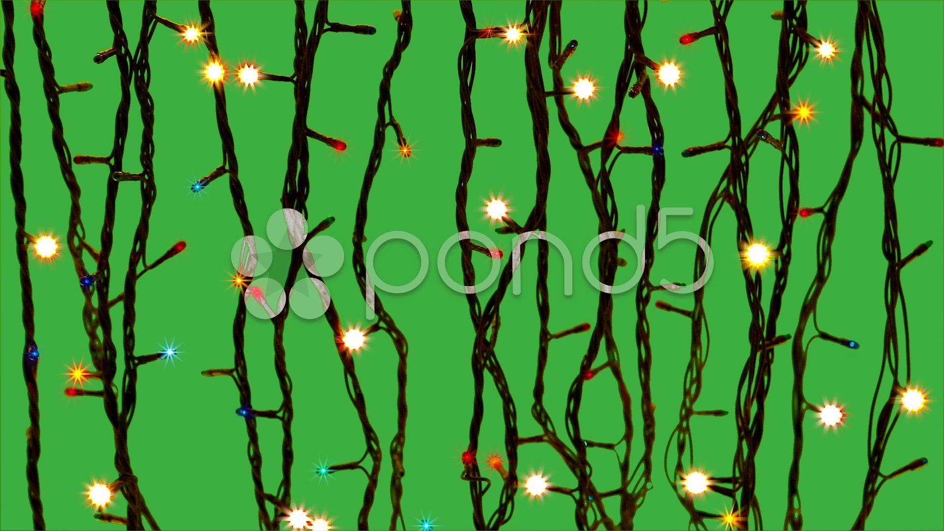 Ufo Sightings Christmas 2020 Electric garland Christmas. new year green screen Stock Footage