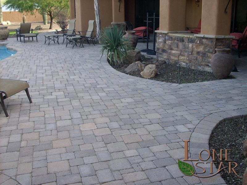 3 Tone Brown Tumbled Pavestone Pavers In Cave Creek, AZ.   Www.