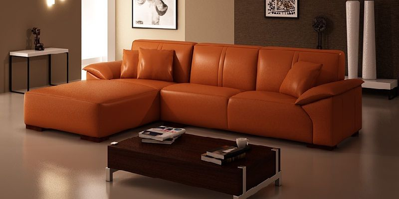 Low Height Leather Sofa