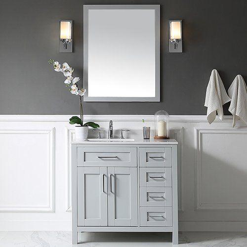 found it at allmodern tahoe 36 single bathroom vanity set with mirror in dove gray - Single Bathroom Vanity