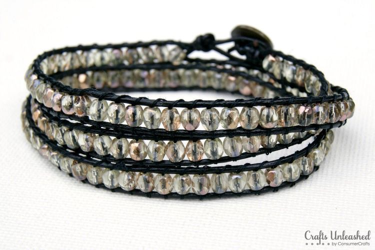 Diy Wrap Bracelet Tutorial Crafts Unleashed Share Today S Craft